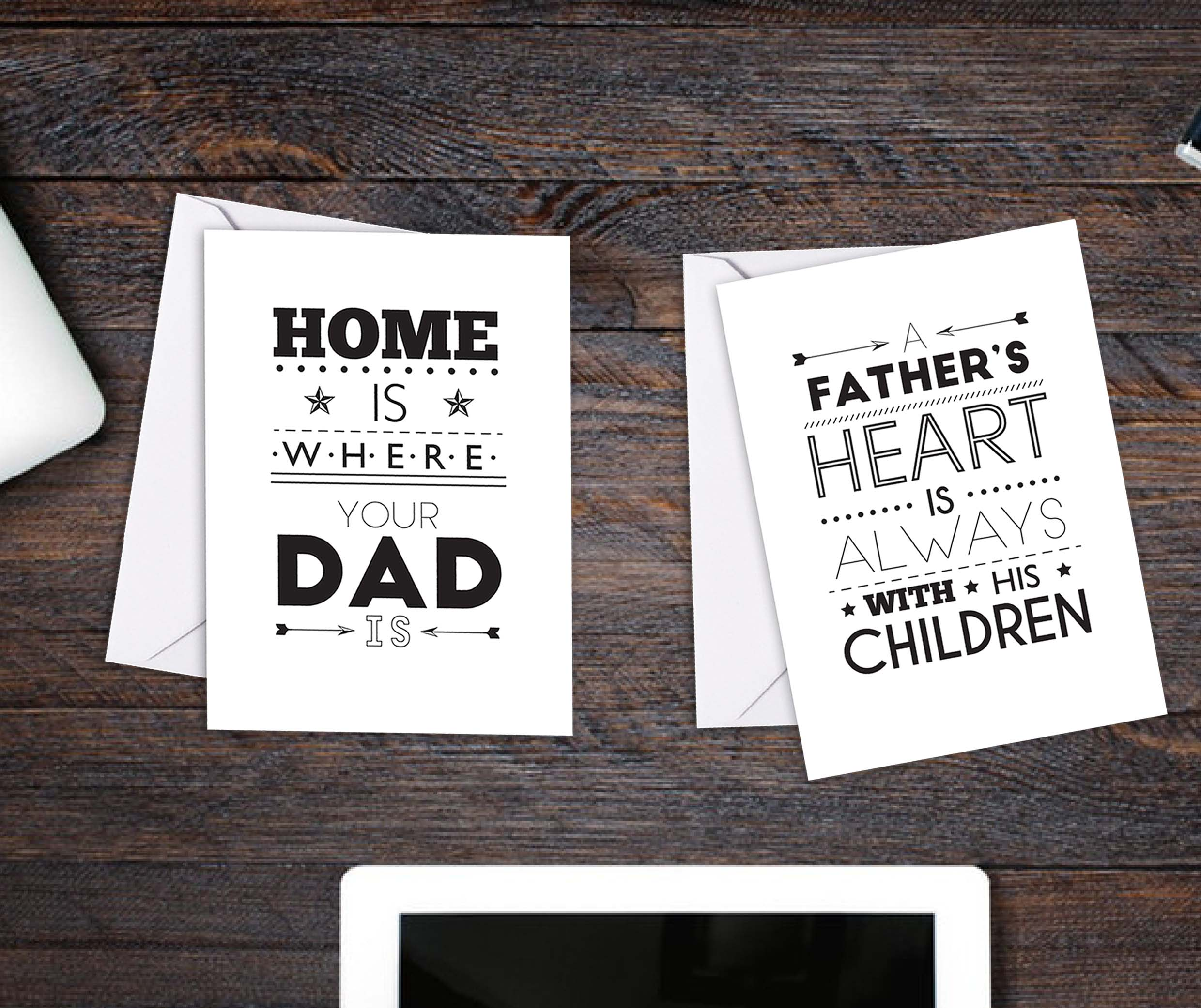 Typographic Father's Day