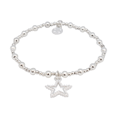 STAR CHARM SILVER PLATED BRACELET