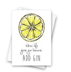 Half Lemon Add Gin