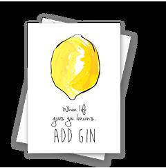 Whole Lemon Add Gin