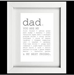 True Dad Framed Print