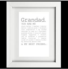 True Grandad Framed Print