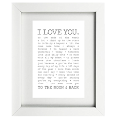 True I love You Framed Print
