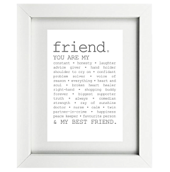 True Friend Framed Print