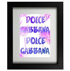 D&G Designer Graffiti Framed Print