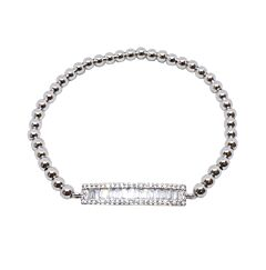 CRYSTAL BAR STERLING SILVER BRACELET