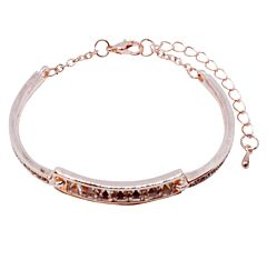 CRYSTAL ROSE GOLD PLATED BRACELET