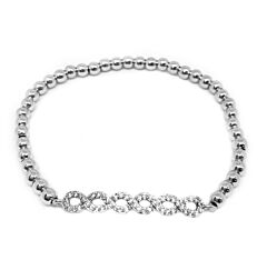 CRYSTAL LATTICE STERLING SILVER BRACELET