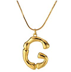 18Kt GOLD PLATED INITIAL NECKLACE