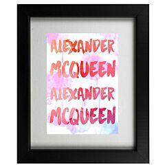 McQueen Designer Graffiti Framed Print