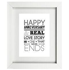 Typographic Anniversary Frame