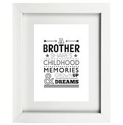 Typographic Brother Frame