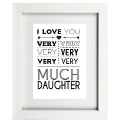 Typographic Daughter Frame