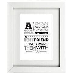 Typographic Friend Frame