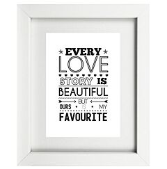Typographic Love Frame