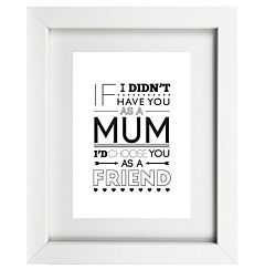 Typographic Mum Frame