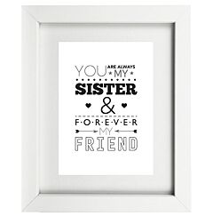 Typographic Sister Frame