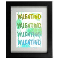 Valentino Designer Graffiti Framed Print